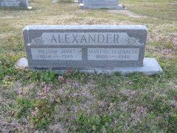Martha Elizabeth Mattie <i>Pittman</i> Alexander