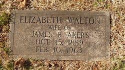 Elizabeth <i>Walton</i> Akers