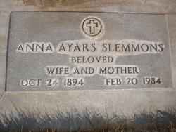 Anna A. <i>Ayars</i> Slemmons