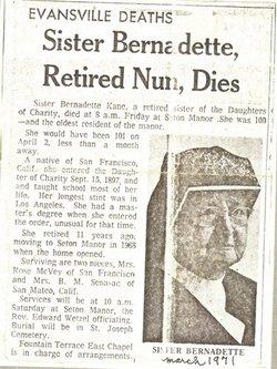 Sr Bernadette Kane