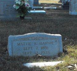 Mattie Franklin <i>Kilpatrick</i> Haynie