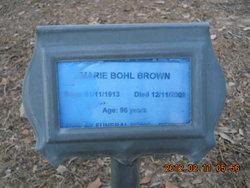 Marie <i>Bohl</i> Brown