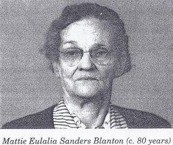 Mattie E. <i>Sanders</i> Blanton