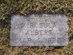 Sr M. Rosula Albert