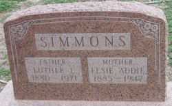 Elsie Addie <i>Barnes</i> Simmons
