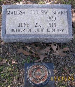 Marey Malissa Malissa <i>Goolsby</i> Sharp