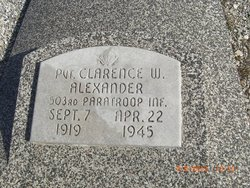 Pvt Clarence W Alexander