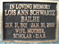 Lois Ann <i>Schwartz</i> Bailhe