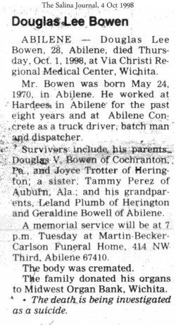 Douglas Lee Bowen