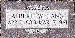 Albert W Lang