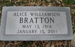 Alice <i>Williamson</i> Bratton