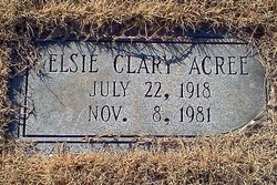 Elsie <i>Clary</i> Acree