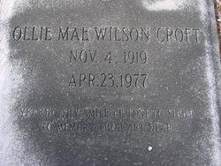 Ollie Mae <i>Wilson</i> Croft