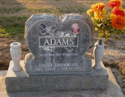 Casimira Cassie <i>Drummond</i> Adams