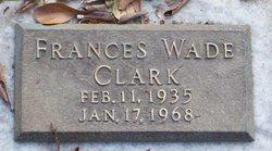 Frances <i>Wade</i> Clark
