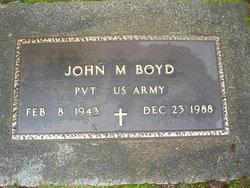 Pvt John M Boyd