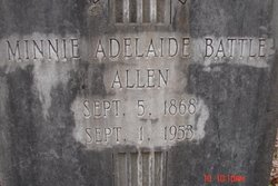 Minnie Adeliade <i>Battle</i> Allen
