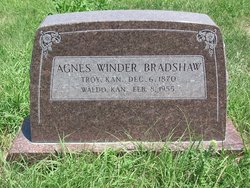 Agnes <i>Winder</i> Bradshaw