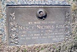 Nancy D <i>Nichols</i> Rose