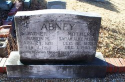 Sarah Alice <i>Morris</i> Abney