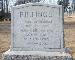 Alma <i>Kibbe</i> Billings