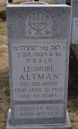 Leonore <i>Zeilander</i> Altman