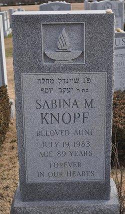 Sabina M. Knopf