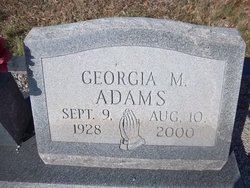 Georgia M Adams