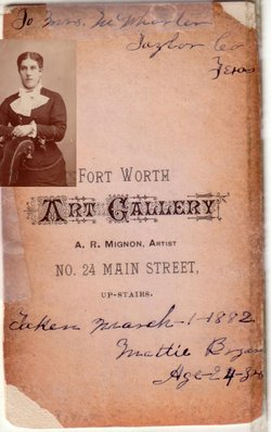 Martha E. Mattie <i>Mounts</i> Bryan
