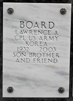 Corp Lawrence Albert Board