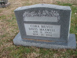 Cora Davis <i>Bilyeu</i> Maxwell