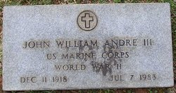 Maj John William Andrew