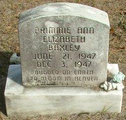Primmie Ann Elizabeth Baxley