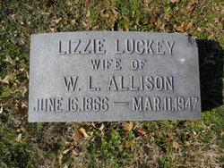 Lizzie <i>Luckey</i> Allison