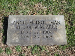 Annie M. <i>Troutman</i> Arey
