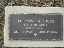 Sgt Thomas L Abshure