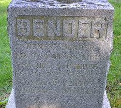 Rachel A <i>Taylor</i> Bender