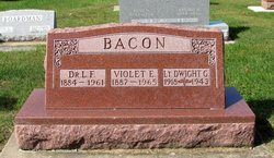 Lieut Dwight G. Bacon