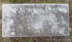 Marion Romaine Alexander