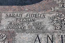 Sarah Fidelia <i>Beeson</i> Anthony