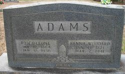 Fannie Jayne <i>Woodard</i> Adams