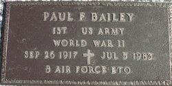 Paul F Bailey