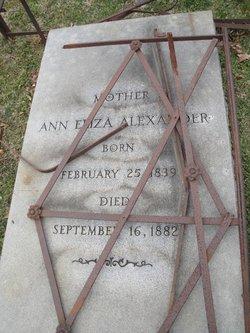 Ann Eliza Alexander