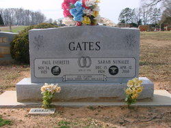 Sarah Elizabeth <i>Nunalee</i> Gates