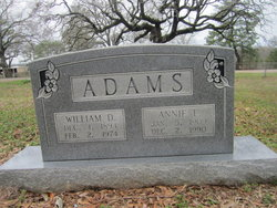 William Daniel Bill Adams