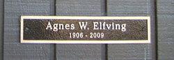Agnes A <i>White</i> Elfving