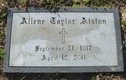 Allene <i>Taylor</i> Alston
