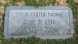 Edith <i>Carter</i> Brown