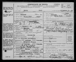 Mahala Elizabeth Betty <i>Livingston</i> Holt