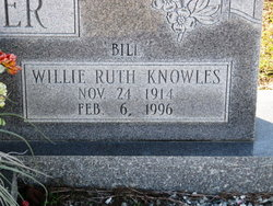 Willie Ruth Bill <i>Knowles</i> Forrester